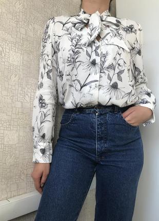 #розвантажуюсь вискозная блузка в цветочный принт