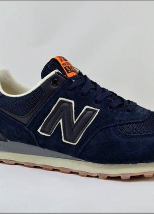 Мужские кроссовки New Balance 574 Blue, Повседневная обувь
