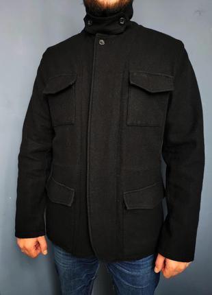 Шерстяное полу пальто ben sherman