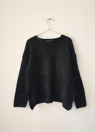 Джемпер цвета хаки с текстурной вязкой fisherman select светр ...