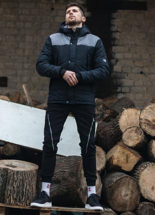 Куртка весенняя ALLEN (черно-серый)