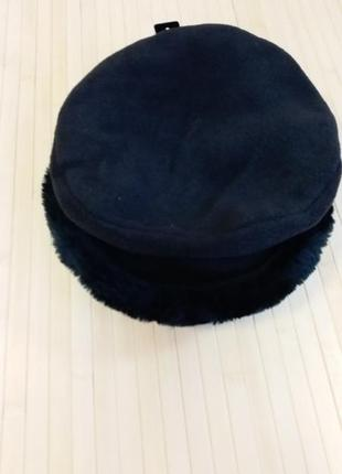 Флисовая шапка с мехом basics