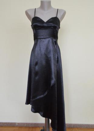 Шикарное нарядное вечернее черное платье