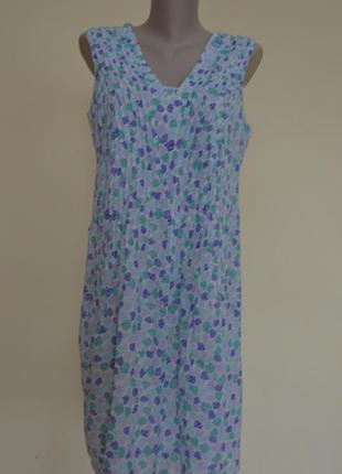 Классное натуральное легкое платье нежной расцветки индия