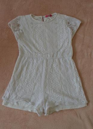 Шикарное платье ромпер на девочку 10-11 лет