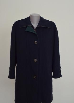 Стильное качественное немецкое пальто шерсть кашемир