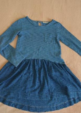 Стильное платье под джинс на 8 лет