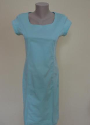 Шикарное платье из котона ,бирюзового цвета sophia perla