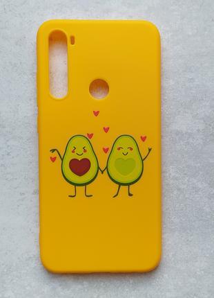 Чехол для xiaomi redmi note 8 Влюбленные авокадо