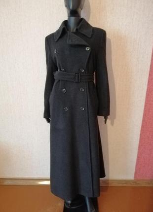 Шикарное двубортное пальто макси большой размер yessica