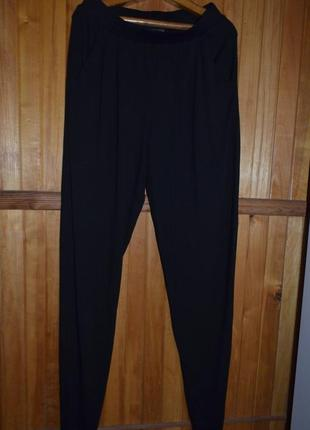 Классные трикотажные фирменные  брюки из вискозы на высокую де...
