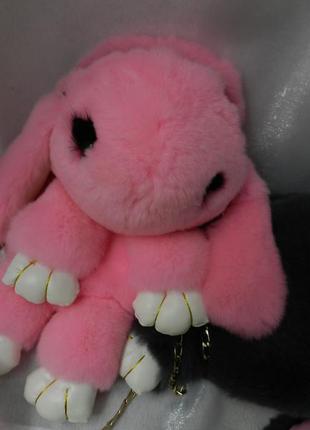 Сумка рюкзак на цепочке  нежный мех кролик . мех натуральный, ...
