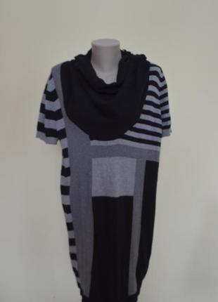 Шикарное платье-туника из котона трикотаж