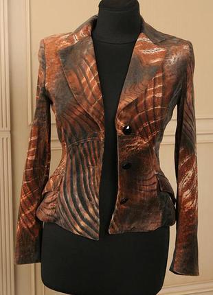 Angelo marani стильный итальянский бархатный приталенный пиджа...