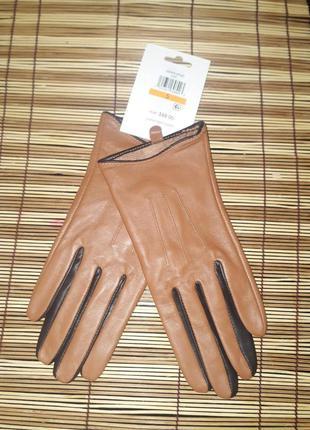 Женские мягкие кожаные перчатки calvin klein