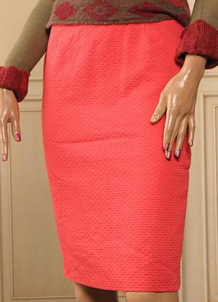 Xs laurel escada коралловая юбка карандаш на подкладке оригинал