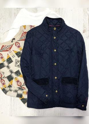 Стёганая темно-синяя куртка
