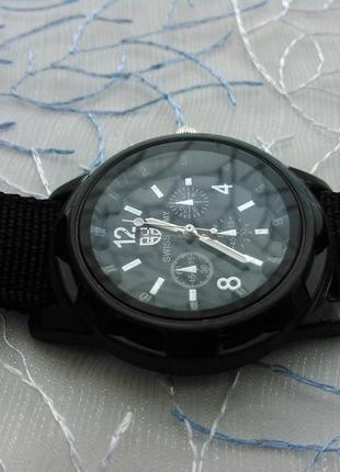 Годинник чоловічий swiss army (часы мужские) тканинний ремінець
