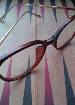 Іміджеві окуляри жіночі 2019 (очки женские) золоті дужки
