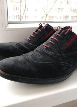 Брендові туфлі чоловічі мешти geox respira 45 [італія] (брогги...
