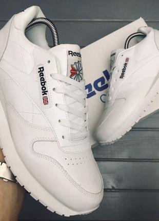 Мужские кроссовки reebok classic white 💣