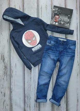 6-7 лет комплект джинсы и худи с реверсными пайетками переверт...