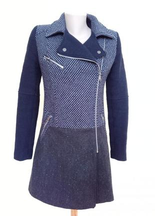 Красивое стильное молодежное пальто шерсть