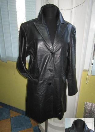 Оригинальная женская кожаная куртка-плащ. германия. лот 849
