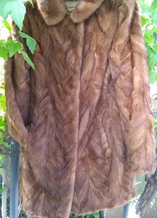 Шуба норковая размер 46 48 натуральная