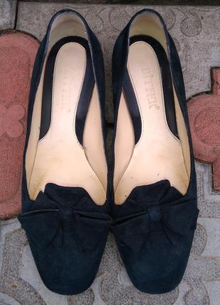 Bitfer vero cuoio туфли  размер 39 замша кожа лодочки