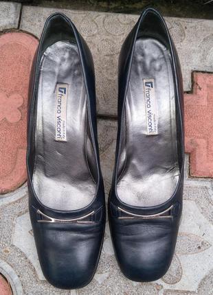 Franco visconti vero cuoio размер 40 ,кожа,туфли лодочки