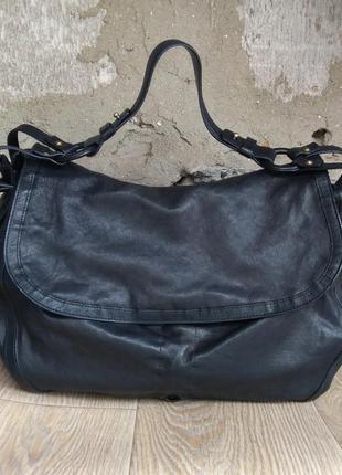 Boss hugo boss сумка кожаная,большая,номерная,hobo