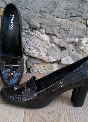 Geox лоферы туфли размер 40 41,оригинал, натуральная кожа