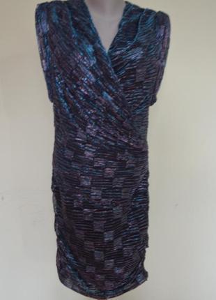 Классное брендовое вечернее люрексовое платье