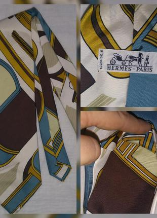 Hermes оригинал галстук винтаж шёлк