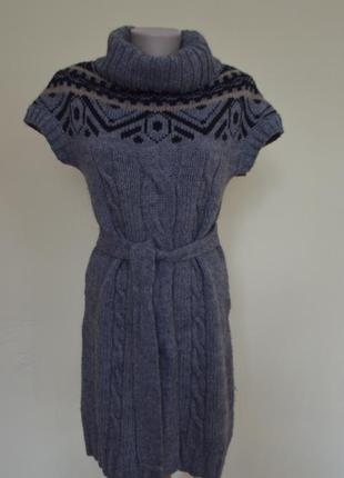 Шикарная трикотажная туника-свитер с шерстью и мохером от zara