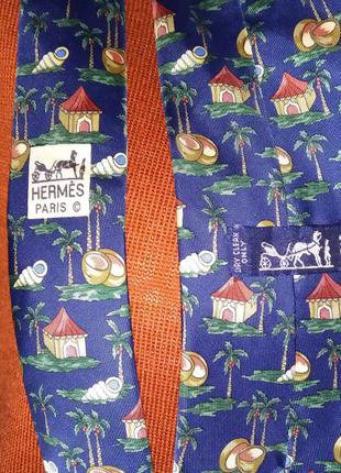 Hermes галстук оригинал шелк