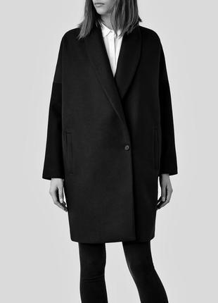 Allsaints пальто кокон размер s ,шерсть