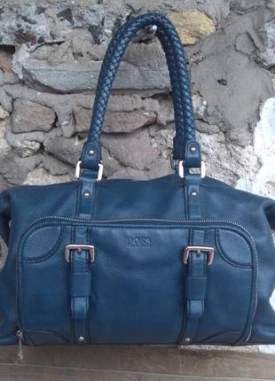 Hugo boss сумка саквояж оригинал,номерная, натуральная кожа