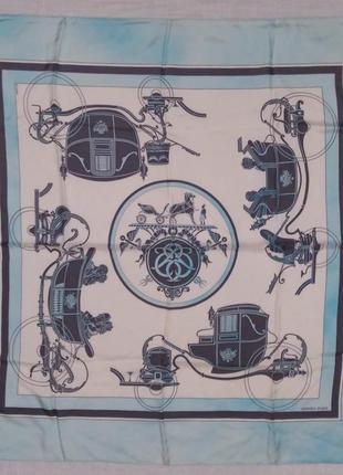 Hermes ex libris 1946 hugo grygkar платок оригинал шов роуль