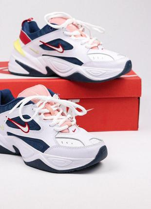 Кроссовки nike m2k tekno - blue force multicolor найк техно