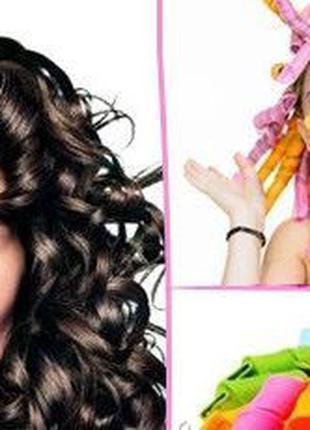 Волшебные бигуди для волос любой длины Hair Wavz, бигуди-спира...