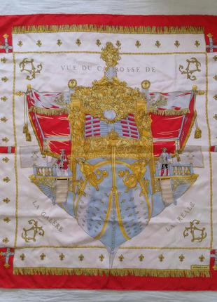 Hermes vue du carrosse de la galere la reale оригинал платок в...
