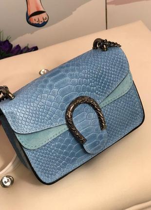 Кожаная сумочка в стиле gucci