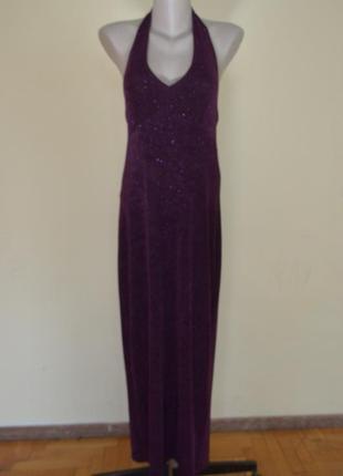 Шикарное брендовое вечернее длинное платье с открытой спинкой,...