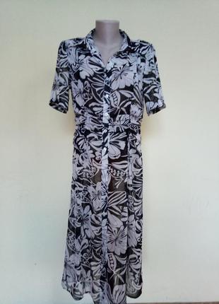 Красивое легкое платье рубашка кардиган