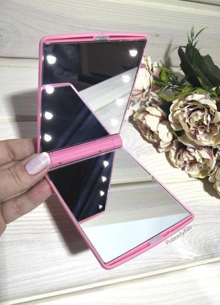 Зеркало косметическое светодиодное с led подсветкой для макияж...
