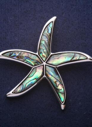Брошь кулон морская звезда
