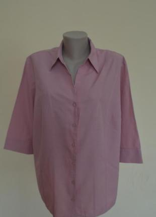 Красивая блузочка-рубашка розово-пастельного цвета,большого 22...