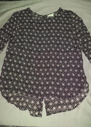 Супер блуза h&m, черно-белый геометрический принт